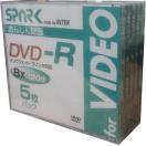 【返品交換不可】SPARK アナログ録画用 DVD-R 4.7GB 5枚 SP DVR120 8X WJ5P