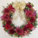 クリスマス プリザーブドフラワーギフト 直径32cm 大きなクランベリーのリース 開業/開店/新築祝い/結婚祝い/還暦祝い/クリスマスギフト