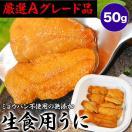 無添加 生食用生ウニ50gペルー産(うに 雲丹) 冷凍
