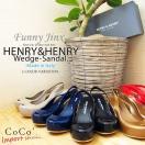 ヘンリーヘンリー ウェッジソール サンダル パンプス イタリア ビーチ レインシューズ 靴 歩きやすい 疲れない coco  FunnyJinx ファニージンクス 【IP010】