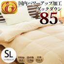 羽毛布団 シングル 日本製 ダウン85% 国内パワーアップ加工 羽毛掛け布団 ニューゴールド
