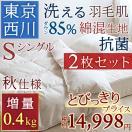 肌掛け布団 シングル 西川産業 東京西川 ま...
