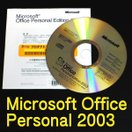 Microsoft Office 2003 Personal (OEM版) CDのみ送ります 開封品