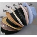 (店内商品2点以上ご購入で送料無料)帽子 ヨリカンピ風 メッシュ 中折れハット ストローハット 8色展開 プチプラ 定番