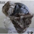 【店内商品2点以上ご購入で送料無料】 2色展開 帽子 フェイクレザー 飛行帽 フライトキャップ アビエーターキャップ パイロット帽 ファー ロシア帽 男女兼用