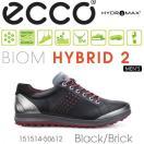 【送料無料】【2015年モデル】ECCO エコー MEN'S GOLF BIOM HYBRID 2 【151514-50612】 メンズ ゴルフシューズ