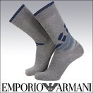 EMPORIO ARMANI 綿混 メンズ ソックス 靴下 BIGイーグル柄 クルー丈 カジュアルソックス 2342-240 ポイント10倍