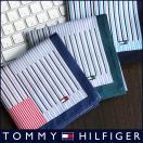 TOMMY HILFIGER トミーヒルフィガー ブランド ストライプチェック柄 綿100% ハンカチ 2582-111 メンズ プレゼント 誕生日 ギフト 彼氏 ポイント10倍