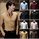 リネンシャツ メンズ 長袖 ワイシャツ Yシャツ 春 夏 長袖シャツ トップス カジュアルシャツ コットン ビジネス フォーマル シンプル おしゃれ キレイめ 無地
