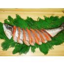 2尾セット!キングサーモンの甘塩鮭(尾頭付)2.0kg以上(化粧箱入、包装)【天然】