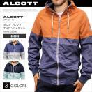 ALCOTT アルコット メンズ ブルゾン ジャケット ナイロンジャケット フード付き GB2319 AC41038SL 大きいサイズ 正規品 本物保証