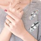 ペアリング 刻印 ステンレスリング メンズ レディース ジルコニア 指輪 ステンレス 運命の赤い糸 ≪ゆうメール便配送10・代引不可≫