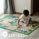 男の子 道路 カーペット プレイマット デスクマット キッズラグ ロードマップ 2約110×133cm (小)(約1畳)