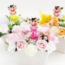 ミッキーマウス&ミニーマウス/スイートウェディング/プリザーブドフラワー入り造花アレンジメント disney228-disney230