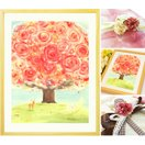 誕生日プレゼント 母親 絵画アート(いのちの樹/名前入れ-Sサイズ) 女性 お母さん 還暦祝い 60歳 60代 70代 80代 祖母 50代