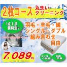 組み合わせ自由 布団 丸洗い ふとん クリーニング  2枚エココース 1点1点単品洗い 殺菌洗浄