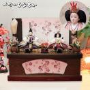 くるみ雛|収納80cmタイプ 親王飾り 収納 雛人形