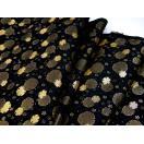 金襴のはぎれ 古代 黒地雪輪 広巾(70cmX35cm単位)着物のはぎれ