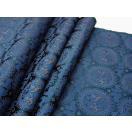 金襴のはぎれ 帯地織物 藍紺 獅子狩文錦 広巾(70cmX35cm単位)着物のはぎれ