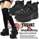厚底スニーカー ローカット レディース 黒 YOSUKE U.S.A ヨースケ