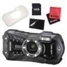 (ジャケット付5点セット)リコー RICOH WG-50 ブラック 防水・防塵・耐衝撃・防寒 デジタルカメラ(メール便不可)