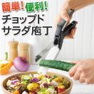 ◆NYでトレンドの新商品◆ 話題のチョップドサラダを自宅で♪ まな板要らずのフードカッター 1つで2役◎ ハサミみたいに切るだけ 簡単 ◇ チョップドサラダ包丁