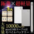 【超大容量10000mAh内蔵】USBポート2ポート...