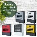 選べる5タイプ 郵便ポスト受けおしゃれかわいい人気北欧モダンデザインメールボックス壁掛けダイヤル錠付きポストpm22select