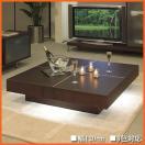 LED照明付 リビングテーブル おしゃれ センターテーブル 北欧 ローテーブル 正方形 幅120cm