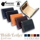 財布 メンズ 三つ折り 本革 ブライドルレザー 名入れ無料 ギフト プレゼント ラッピング