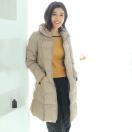 Filomo ライトダウンコート レディース 秋冬 軽い グレージュ/ブラウン/ネイビー/ブラック