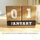 【WOOD CUBE CALENDAR】ウッド カレンダー L