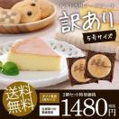 送料無料 訳あり チーズケーキ 5号×2個セット スイーツ お菓子 洋菓子 お試し わけあり ケーキ 食品