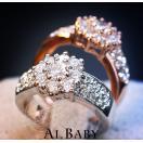 リング 指輪 スワロフスキー SWAROVSKI 雪花 華雪 豪華キラキラ 大きいサイズ あすつく 18K レディースアクセサリー 母の日 プレゼント 結婚式 送料無料