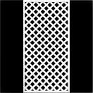 フェンス ラティス ホワイト格子ラティス1800×900mm