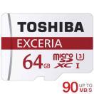 microSDカード microSDXC 64GB 東芝 Toshiba 超高速UHS-I U3 90MB/S 4K対応 海外パッケージ品【3年保証】