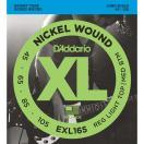 ダダリオ エレキベース弦(RL. Top/ M. Bottom .045-.105)ロングスケール D'Addario XL Nickel Round Wound EXL-165 返品種別A