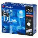 三菱 8倍速対応DVD-R DL 10枚パック8.5GB ホワイトプリンタブル VHR21HDSP10 返品種別A