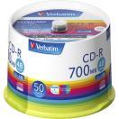 バーベイタム データ用48倍速対応CD-R 50枚パック 700MB ホワイトプリンタブル SR80FP50V1 返品種別A