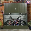 屋外物置 自転車置き場 サイクルハウス サイクルポート サイクルガレージ「メタルシェッド 自転車倉庫 スタンダードサイクル <大型・中型> ツートーン」