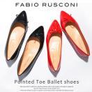 ファビオルスコーニ Fabio Rusconi バレエシューズ レディース ポインテッドトゥ リボン フラットパンプス ぺたんこ靴 ローヒール