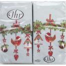 ペーパーナプキン[メール便OK][ハンキー]ラブリーガーランド ライトブルー[Ihr]ドイツ製ペーパーナフキン・紙ナプキン・クリスマス