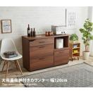 キッチンカウンター Vogel 大容量収納付 無垢材カウンター