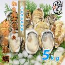 漁師が直売♪相生市特産ぷりぷり殻付きカキ 5キロ ナイフ付き♪ 【冷蔵便】