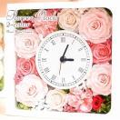 プリザーブドフラワー 花時計  結婚記念日 誕生日プレゼント 退職祝い 結婚祝い 還暦祝い 母 プレゼント 女性 ホワイトデー ギフト 贈り物