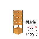 フェンス ガーデン プランター付きフェンス 目隠し おしゃれフェンス ガーデニング 木目調 樹脂製 コーナーフェンス スタンダード 板間隔1cm 連結使用可能