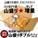 おつまみ おかき 山盛り ダブルセット ver.2 合計 1kg 国産米 あられ おせんべい 本州送料無料 新潟 加藤製菓 名物和菓子