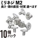 ミリネジ M2×2mm 10個パック (M.2 SSD/mS...