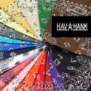 ハバハンク HAV-A-HANK ハブアハンク バンダナ【ペイズリーA】ハンカチ アメリカ製 イラスト 正方形 22インチ 55cm x 55cm