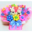 キャンディブーケ キャンディーブーケ なかよしウサギさんM 誕生日 開店祝い